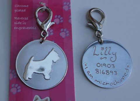 WEST HIGHLAND TERRIER ID TAG - ENGRAVED FREE
